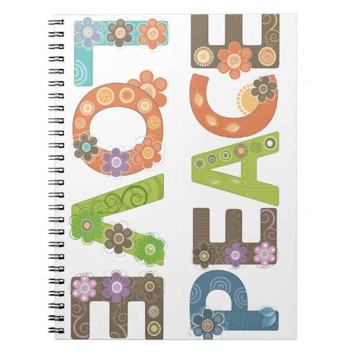 Amor y paz cuaderno