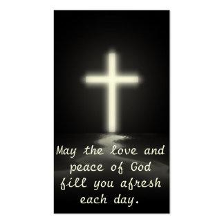 Amor y paz tarjetas de visita