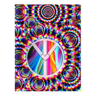 Amor y Peace_ Tarjeta Postal