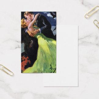 Amor y romance, beso romántico del vintage tarjeta de visita
