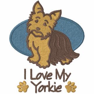 Amor Yorkshire Terrier Sudadera Bordada Con Serigrafía