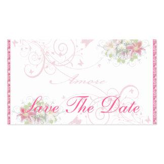 Amore floral - ahorre la tarjeta de fecha plantillas de tarjetas personales