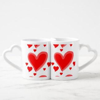 amores del amor set de tazas de café