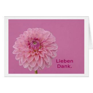 Amores gracias tarjeta de felicitación