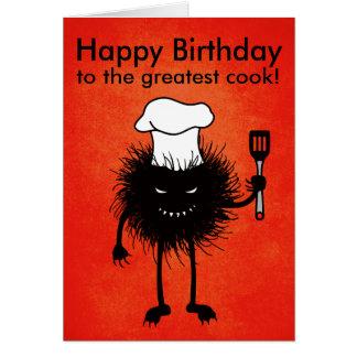 Amores malvados adaptables del cocinero del tarjeta de felicitación
