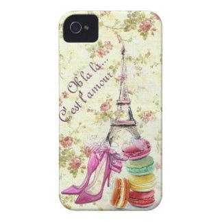 Amorío de París lunes Case-Mate iPhone 4 Protectores