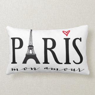 Amorío de París lunes con la torre de Eiffer Cojín