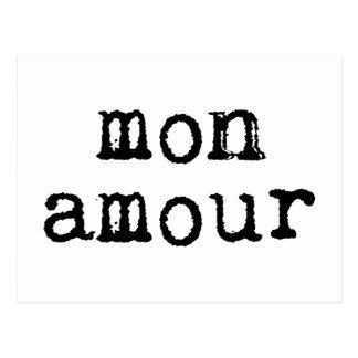 Amorío escrito a máquina de lunes postales