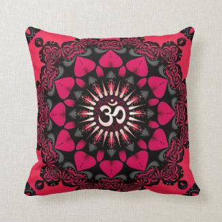 Amortiguador/almohada del negro del rosa de la man cojín