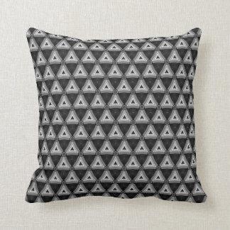 Amortiguador blanco del modelo del negro geométric almohada