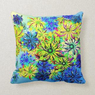 Amortiguador colorido del crisantemo y cojín decorativo