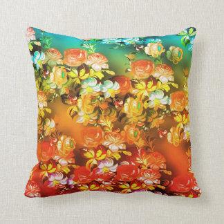 Amortiguador colorido multi de las flores y cojín decorativo