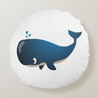"""Amortiguador de la ballena del """"pequeño del bebé cojín redondo"""