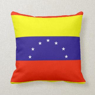 Amortiguador de la bandera de Venezuela Cojín Decorativo