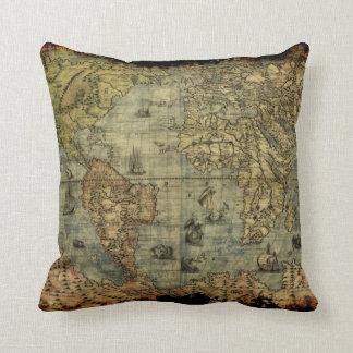 Amortiguador de la decoración del mapa de Viejo Mu Almohadas