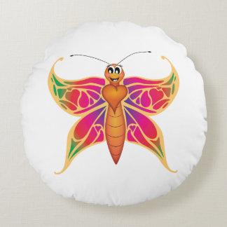 """Amortiguador de la mariposa del """"pequeño del bebé cojín redondo"""