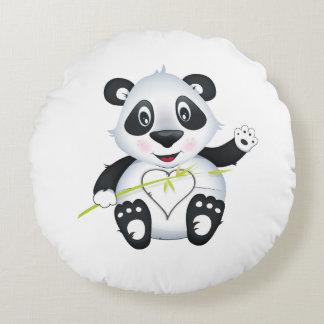 """Amortiguador de la panda del """"pequeño del bebé cojín redondo"""