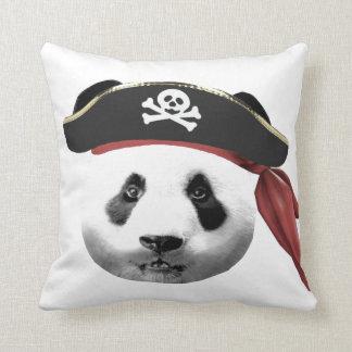 Amortiguador de la panda del pirata cojín decorativo