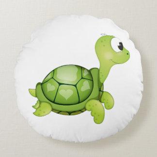 """Amortiguador de la tortuga del """"pequeño del bebé cojín redondo"""
