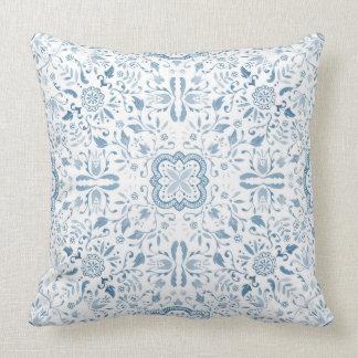 Amortiguador maravilloso - azul del vintage cojín decorativo