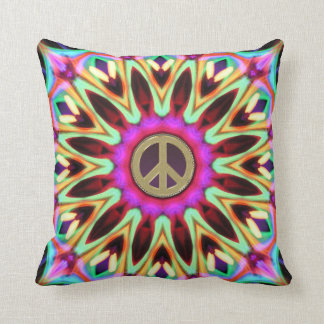 Amortiguador maravilloso del signo de la paz del h almohada