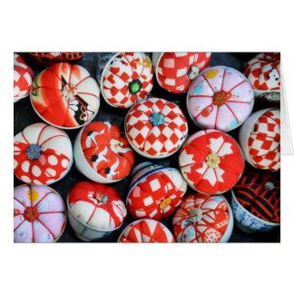 Amortiguadores japoneses del Pin Tarjeta De Felicitación