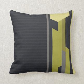 Amortiguadores modernos del verde de la tela a ray almohadas