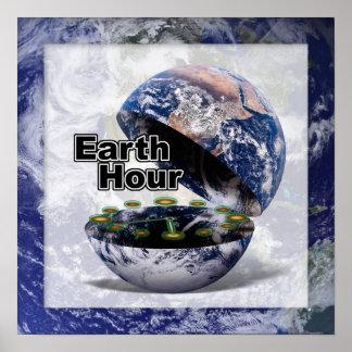 Amortigüe las luces para la hora de la tierra (la póster