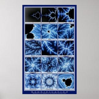 Ampliación - azul póster