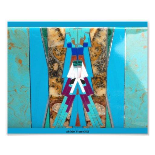 Ampliación de la foto del escudo de la turquesa de