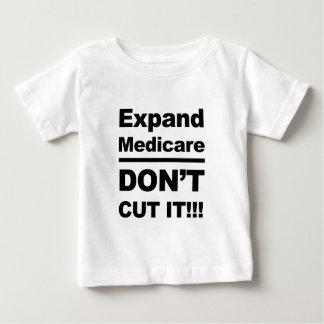 Amplíe Seguro de enfermedad-Don't lo cortan Camiseta De Bebé
