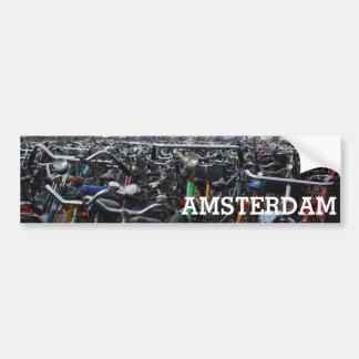 Amsterdam - bicis pegatina para coche