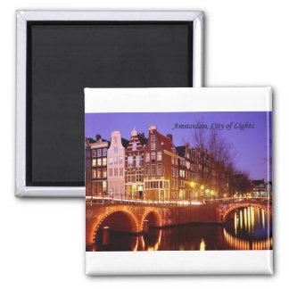 Amsterdam, ciudad de luces (por St.K.) Imanes De Nevera