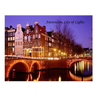 Amsterdam, ciudad de luces (por St.K.) Postal
