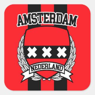 Amsterdam Pegatina Cuadrada
