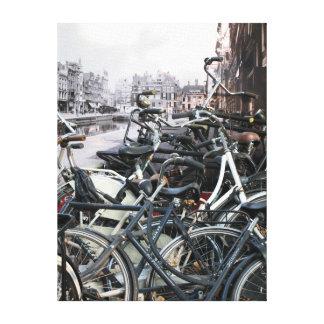 Amsterdam vieja lienzo envuelto para galerias