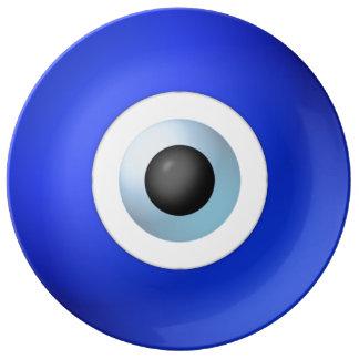 Amuleto para rechazar el mal de ojo plato de porcelana