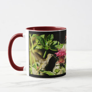 Ana en la taza del colibrí de la tarde