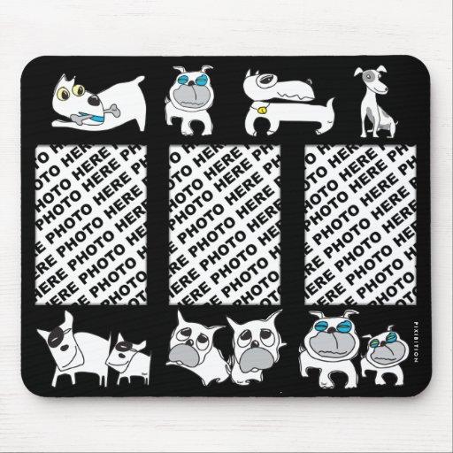 Añada 3 perros del blanco de Mousepad de las fotos Alfombrillas De Ratones