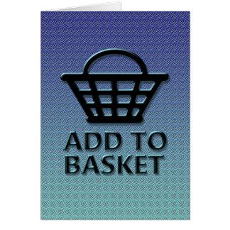 Añada al concepto de la cesta tarjeta