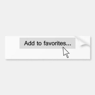 Añada al ordenador Mouseover de los favoritos Pegatina Para Coche