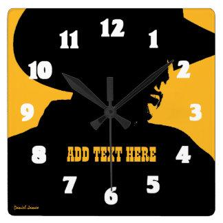 Añada al vaquero conocido reloj cuadrado