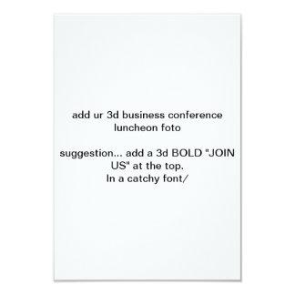 """añada el alumerzo """"foto"""" del congreso de negocios invitación 8,9 x 12,7 cm"""