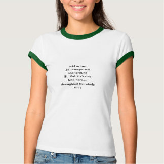Añada el fav del ur. 3d del St. Patricks del día Camiseta