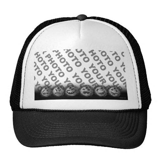 Añada el negro del gorra de la calabaza de Hallowe