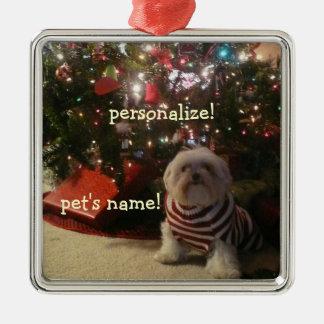 Añada la foto del mascota/el ornamento del árbol
