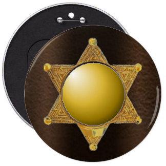 Añada la insignia del representante de la ley de chapa redonda 15 cm