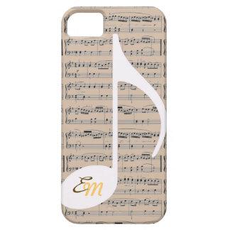 añada las iniciales a las notas musicales iPhone 5 Case-Mate protector