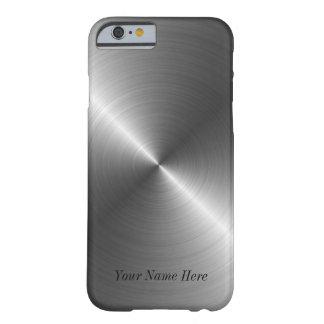 Añada su caso de acero conocido del iPhone 6 de la Funda De iPhone 6 Barely There