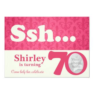 Añada su cumpleaños de la sorpresa del ssh de la invitación 12,7 x 17,8 cm